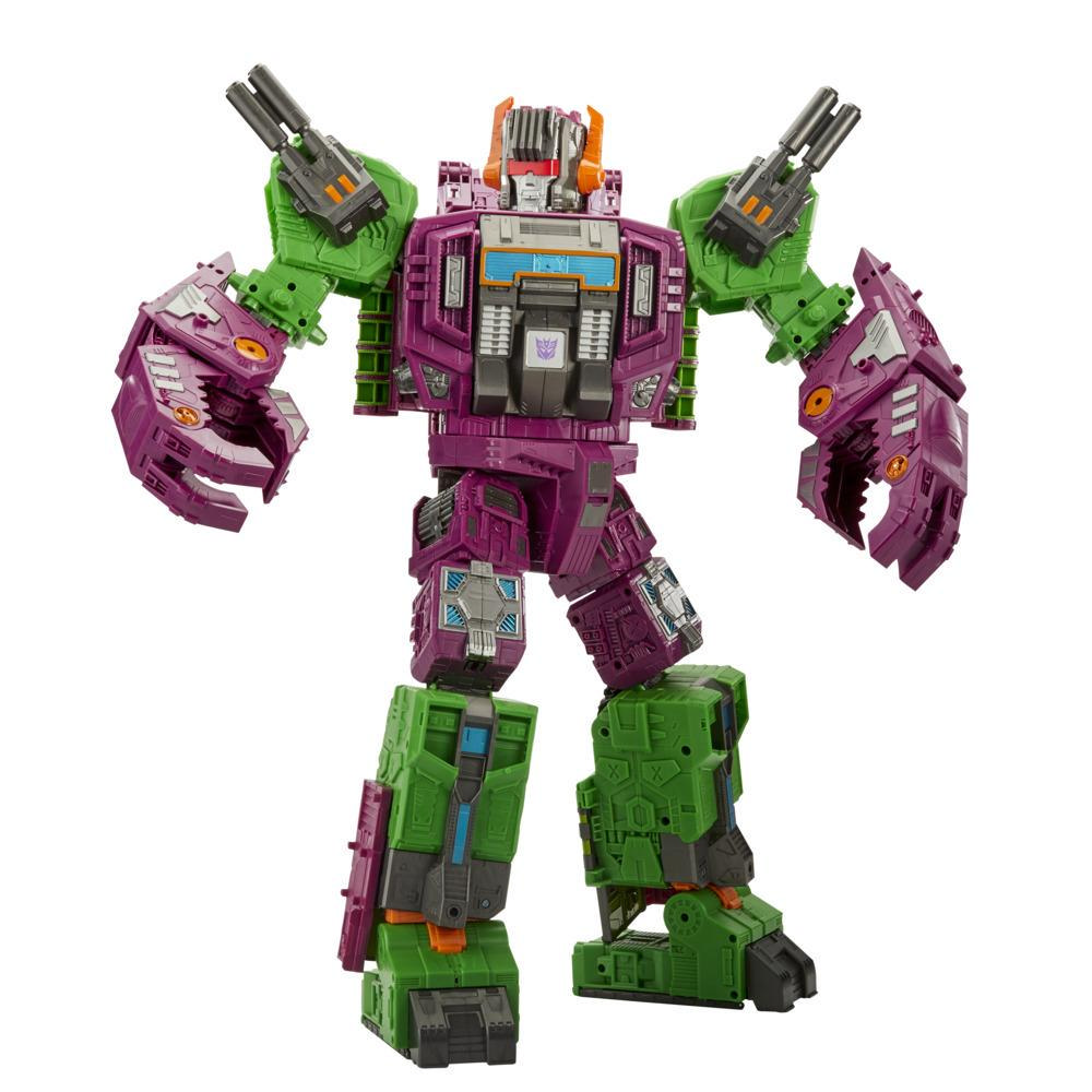Transformers Toys Generations War for Cybertron: Earthrise Titan WFC-E25 Scorponok Triple Changer, 21-inch