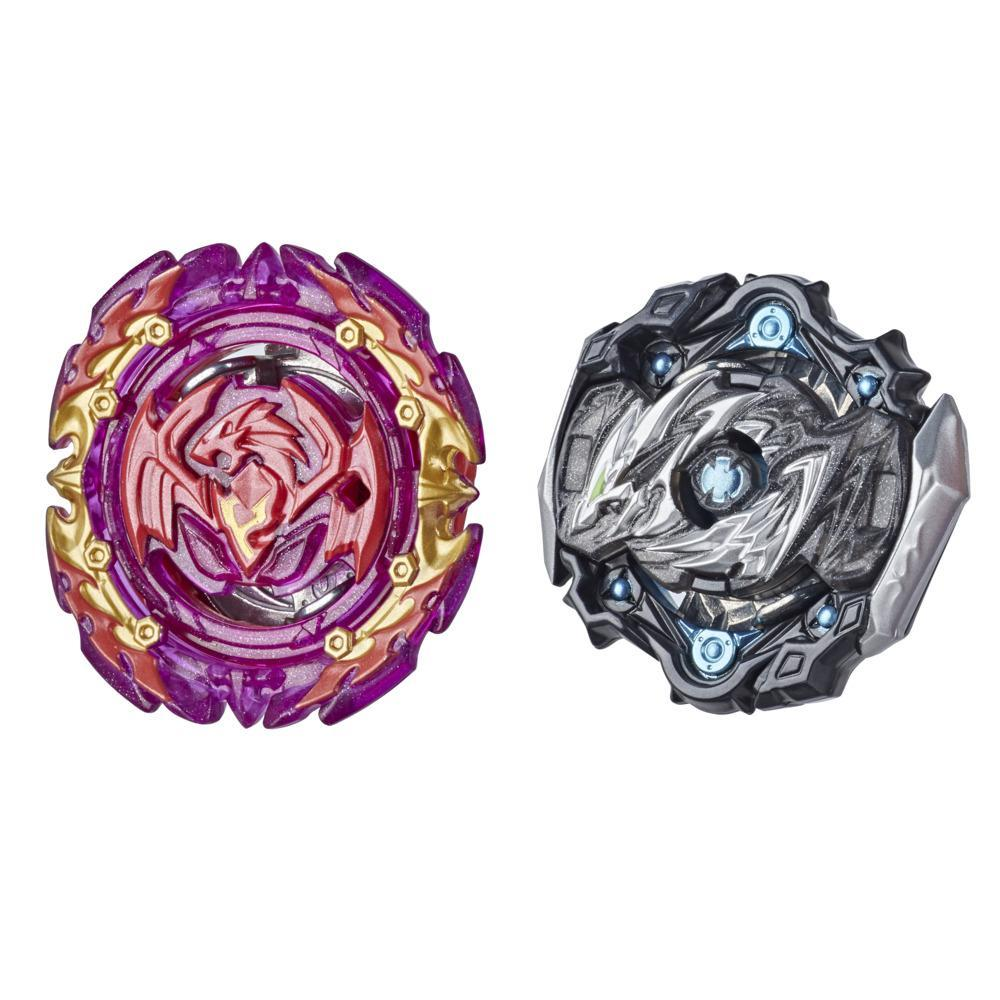 Beyblade Burst Surge Dual Collection Pack Hypersphere Myth Evo Dragon D5, Slingshock Perfect Phoenix P4 Battle Game Toys