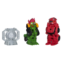 Angry Birds Transformers Sentinel Prime Bird vs. Deceptihog Bludgeon Pig Battlepack