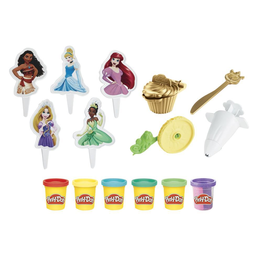 Play-Doh Disney Princess Cupcakes Playset Arts and Crafts Toy for Kids 3 Years and Up with 6 Cans