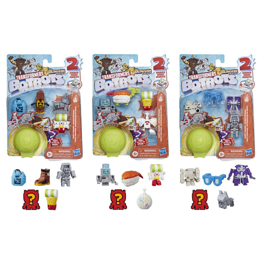 Transformers Toys BotBots Series 5 Party Favors 5-Pack – Mystery 2-In-1 Collectible Figures - Kids Ages 5 and Up