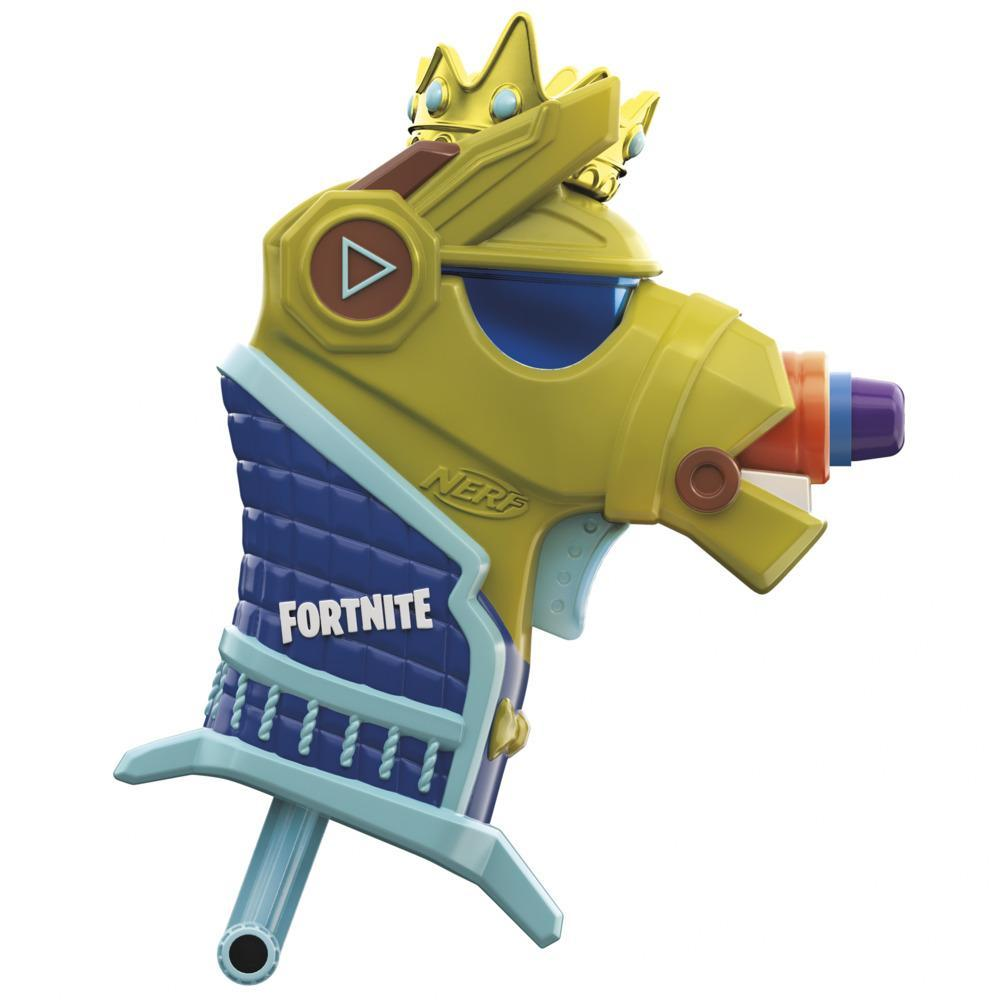 Nerf Fortnite Micro Y0nd3r Blaster -- Fortnite Yond3r Outfit Design -- Includes 2 Nerf Darts and Removable Crown