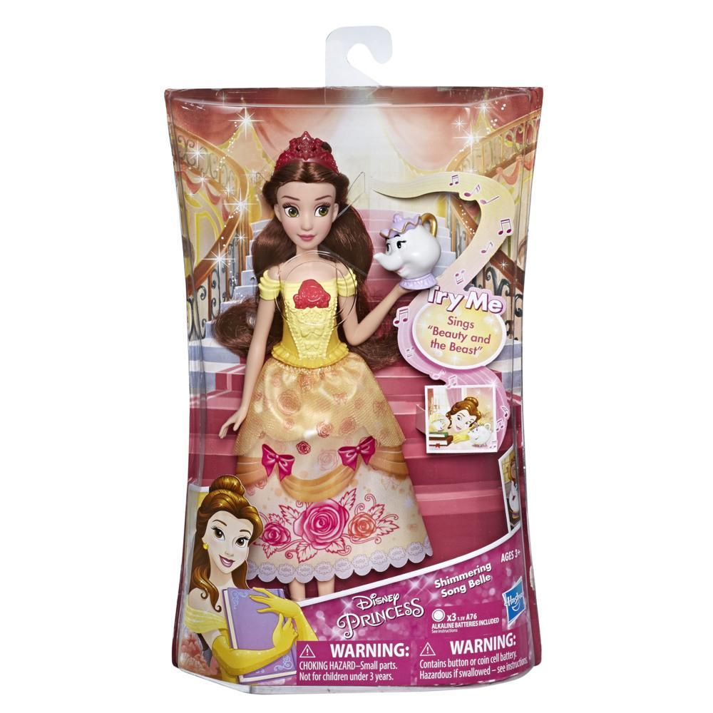 Disney Princess Shimmering Song Belle, Musical Fashion Doll with Removable Fashion, Toy Sings