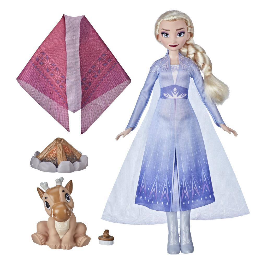 Disney's Frozen 2 Elsa's Campfire Friend, Elsa Doll with Dress, Baby Reindeer, Fashion Doll Accessories, Toy for Kids 3 Years Old and Up