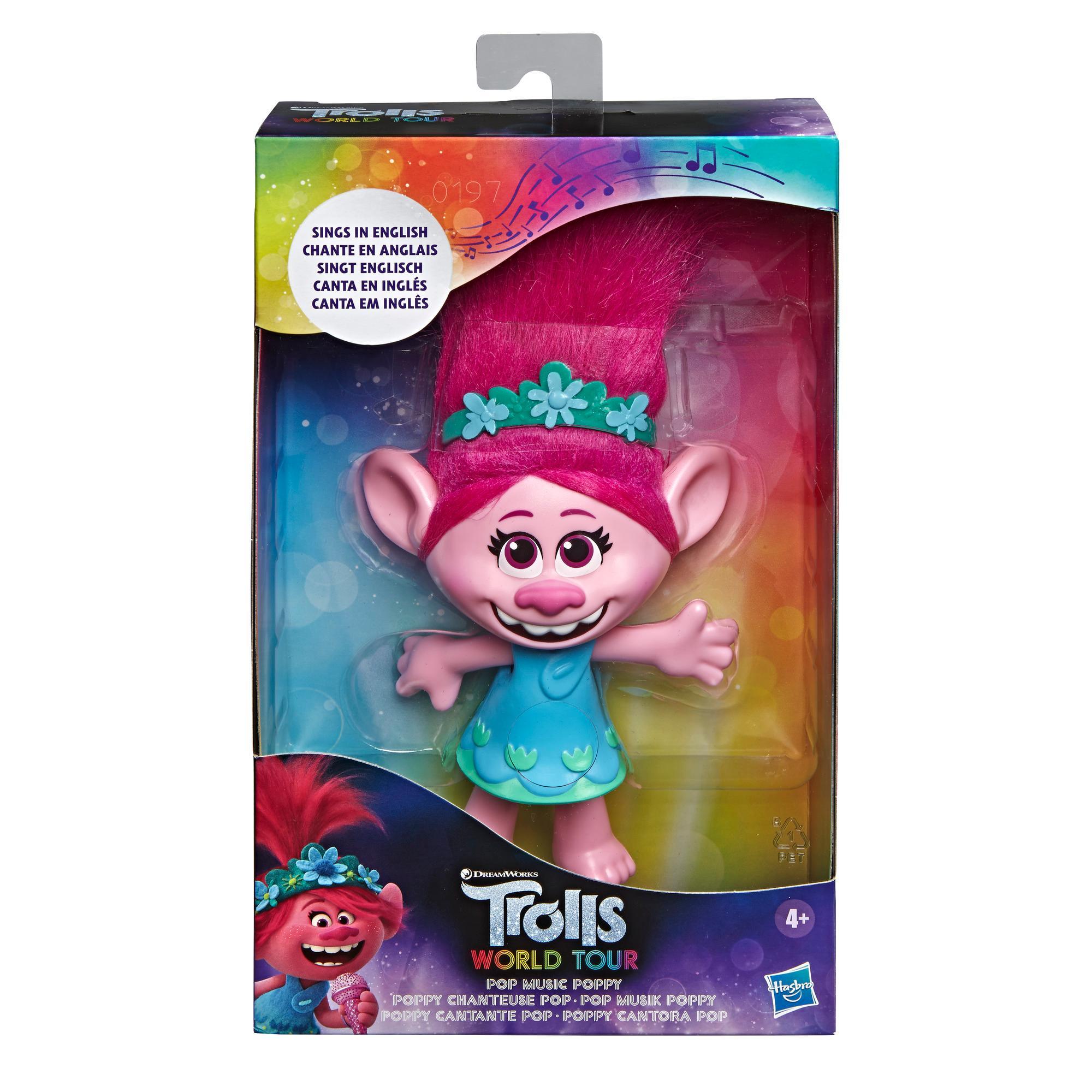 DreamWorks Trolls Pop Music Poppy Singing Doll Toy, Sings Trolls Just Want to Have Fun from DreamWorksTrolls World Tour