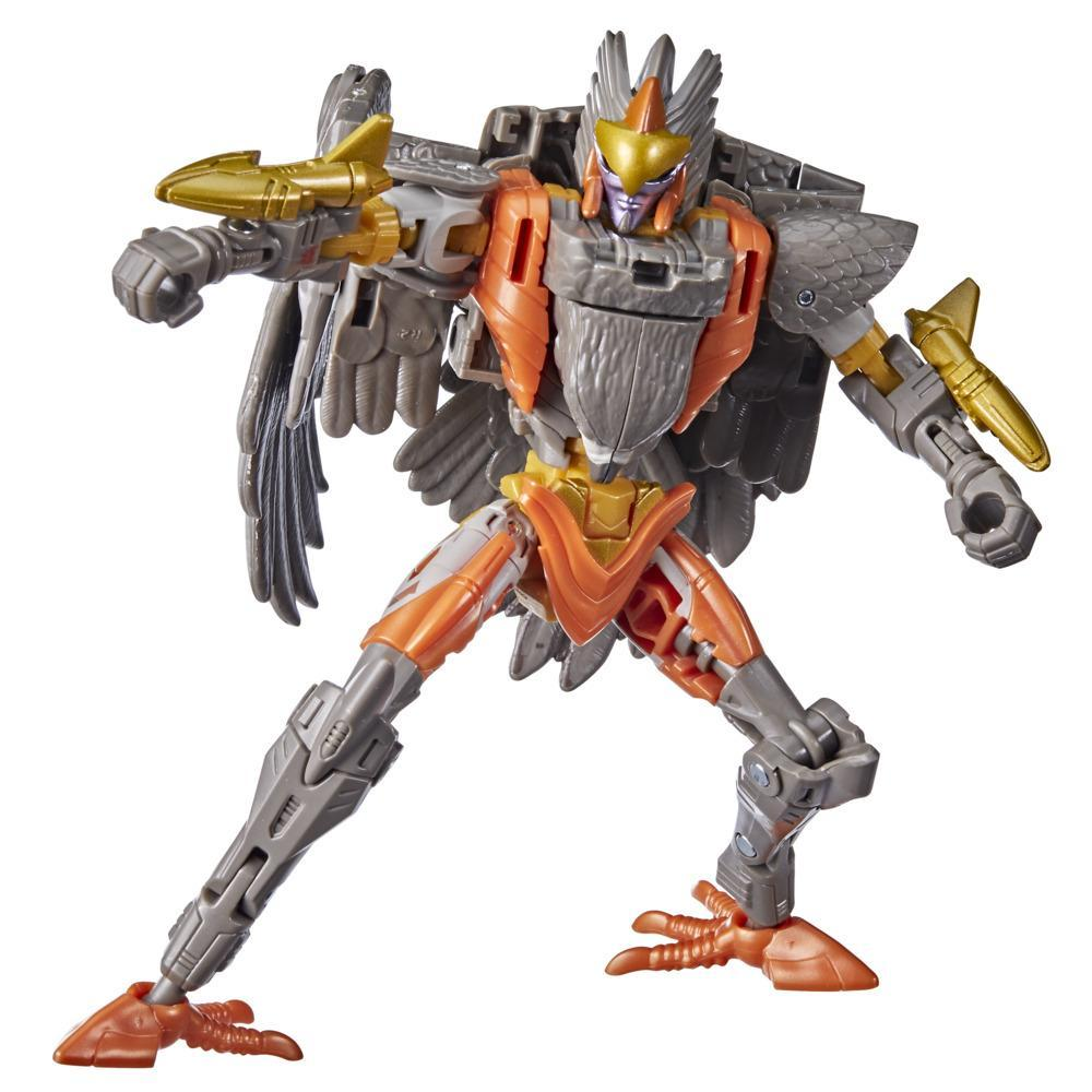 Transformers Toys Generations War for Cybertron: Kingdom Deluxe WFC-K14 Airazor Action Figure - 8 and Up, 5.5-inch