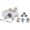 STAR WARS PLAYSKOOL HEROES Jedi Force MILLENNIUM FALCON with HAN SOLO & CHEWBACCA Playset