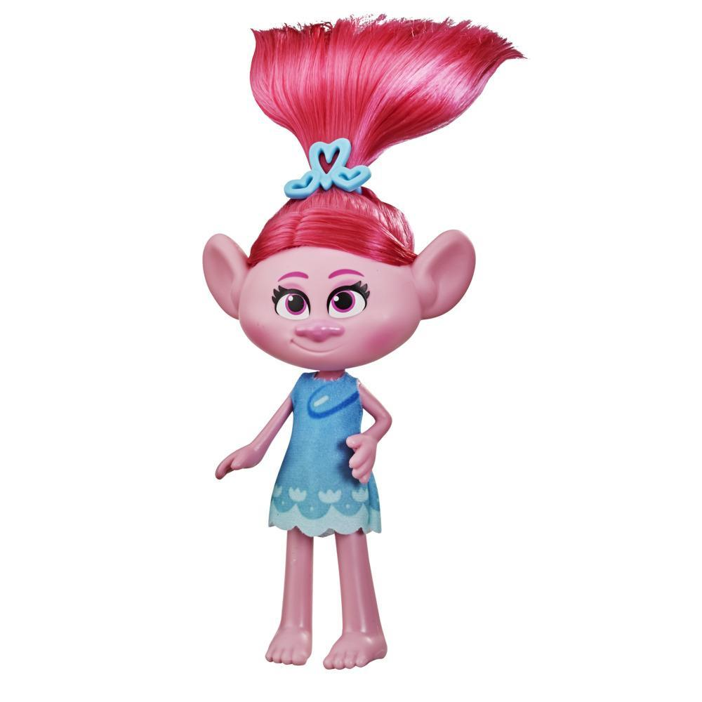 DreamWorks TrollsTopia Stylin' Poppy Fashion Doll with Removable Dress and Hair Accessory, Toy for Girls 4 and Up