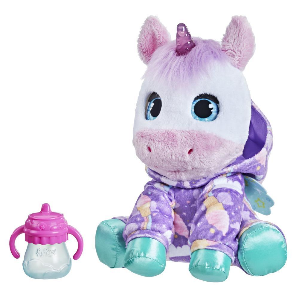 furReal Sweet Jammiecorn Unicorn Interactive Plush Toy, Light-Up Toy, 30+ Sounds and Reactions, Ages 4 and Up