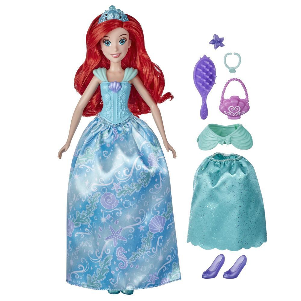 Disney Princess Style Surprise Ariel Fashion Doll, 10 Fashions and Accessories, Toy for Girls 3 Years Old and Up