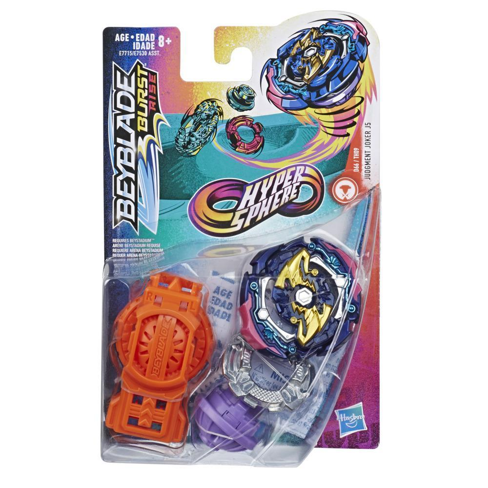 Beyblade Burst Rise Hypersphere Judgement Joker J5 Starter Pack -- Battling Top Toy and Right/Left-Spin Launcher