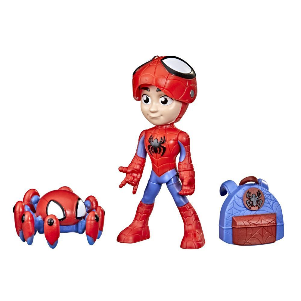 Marvel Spidey and His Amazing Friends Hero Reveal Figure 2-Pack, Mask Flip Feature, Spidey and Trace-E, Ages 3 And Up