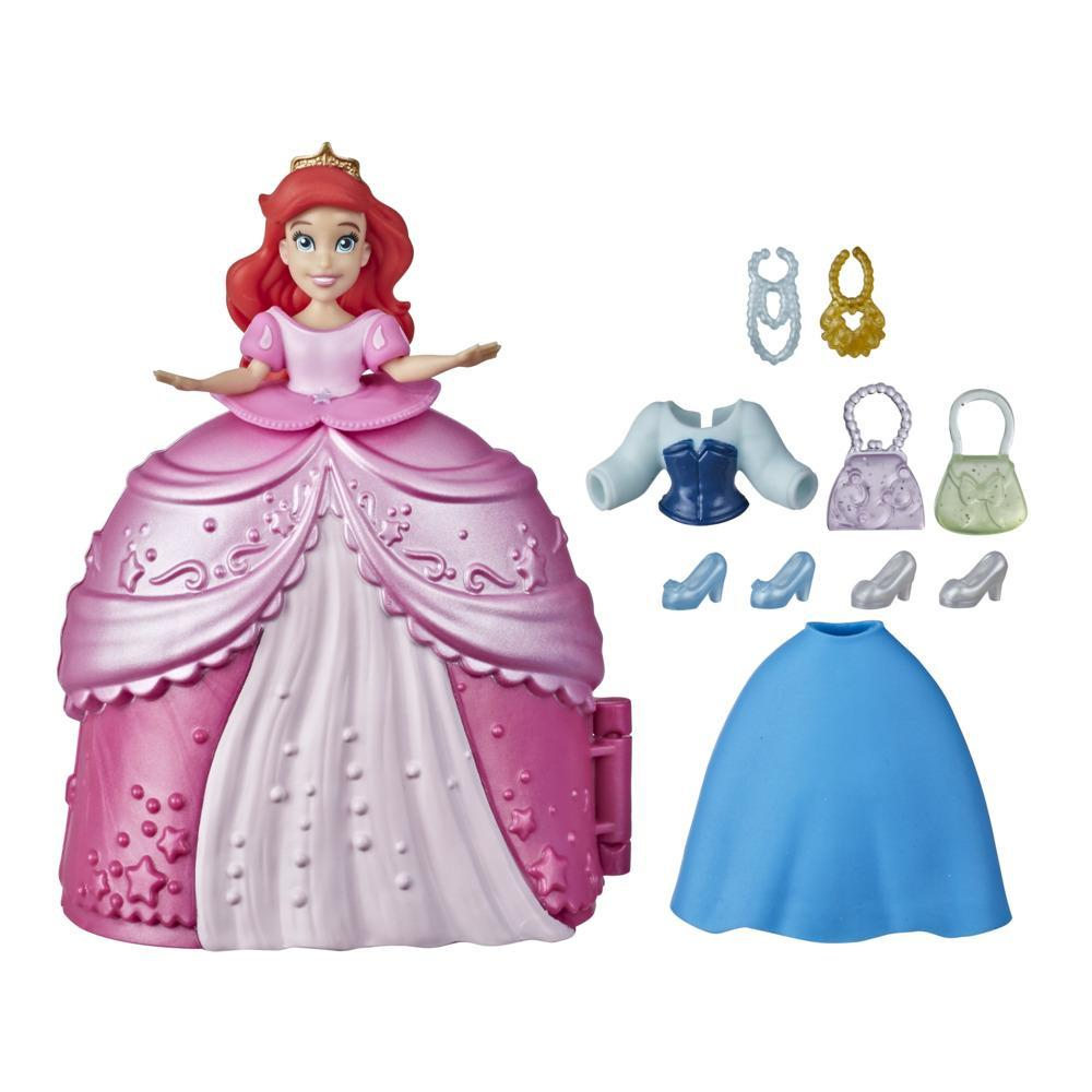 Disney Princess Secret Styles Fashion Surprise Ariel, Mini Doll Playset with Clothes and Extras, Toy for Girls 4 and Up