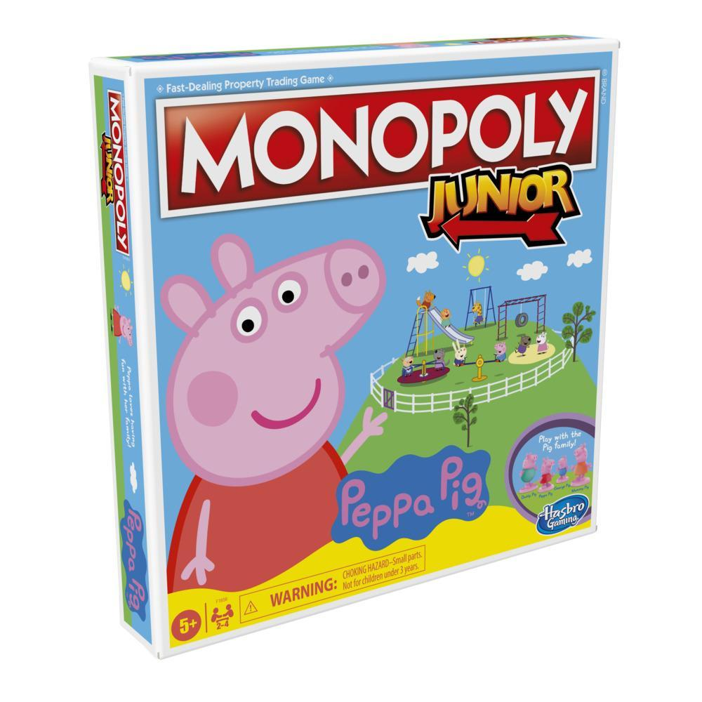 Monopoly Junior: Peppa Pig Edition Board Game for 2-4 Players, For Kids Ages 5 and Up