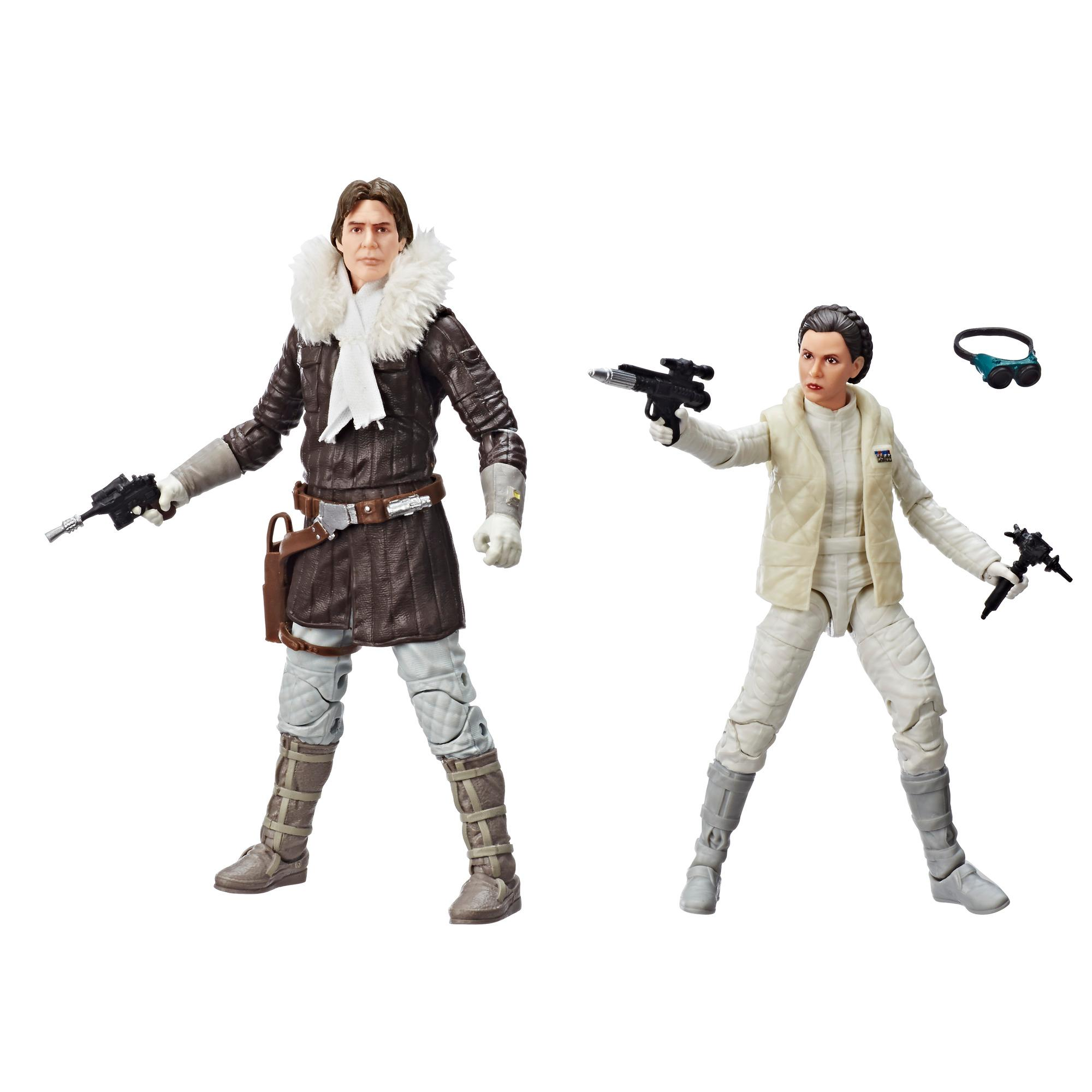 Star Wars The Black Series Han Solo and Princess Leia Organa Exclusive Pack