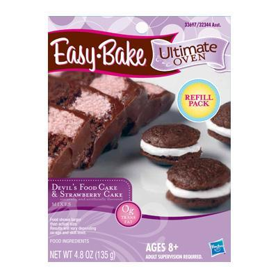 EASY-BAKE Ultimate Oven – Devil's Food Cake & Strawberry Cake Mix