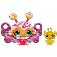 LITTLEST PET SHOP Fairies CANDYSWIRL DREAMS Pack (JELLY DONUT FAIRY and Bat)