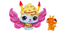 LITTLEST PET SHOP Fairies CANDYSWIRL DREAMS Pack (STRAWBERRY ICE CREAM FAIRY and Turtle)
