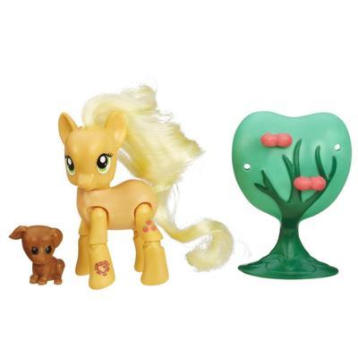 My Little Pony Friendship Is Magic Applejack Applebucking Poseable Pony