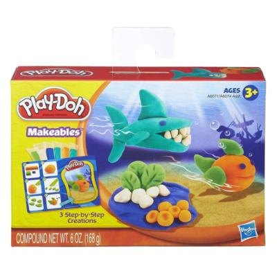 New Play Doh Makeables Set with Sharks and Fish and