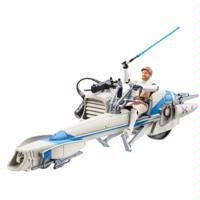 Star Wars The Clone Wars BARC Speeder Bike with Obi-Wan Kenobi