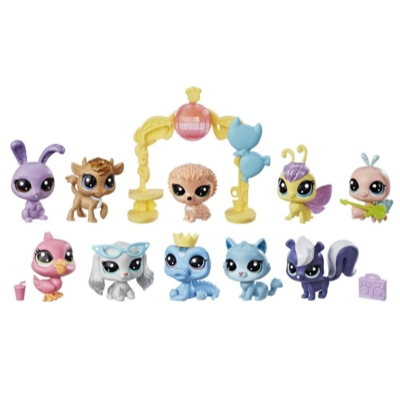 Littlest Pet Shop Sparkle Spectacular Collection Pack Toy, Includes 10 Glitter Pets, Ages 4 and Up