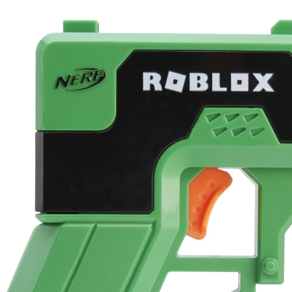 Nerf Roblox Mad City: Plasma Ray Dart Blaster, Priming Handle, 2 Nerf Elite Darts, Code To Unlock In-Game Virtual Item