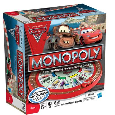 MONOPOLY Disney Pixar Cars 2 Edition Game
