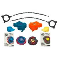 BEYBLADE METAL MASTERS CRUSHING BLAST 2-Pack: BB-78A ROCK ZURAFA R145WB Defense vs. B-131 TORCH GEMIOS W105CS Attack