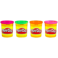 PLAY-DOH Neon Colors 4-Pack