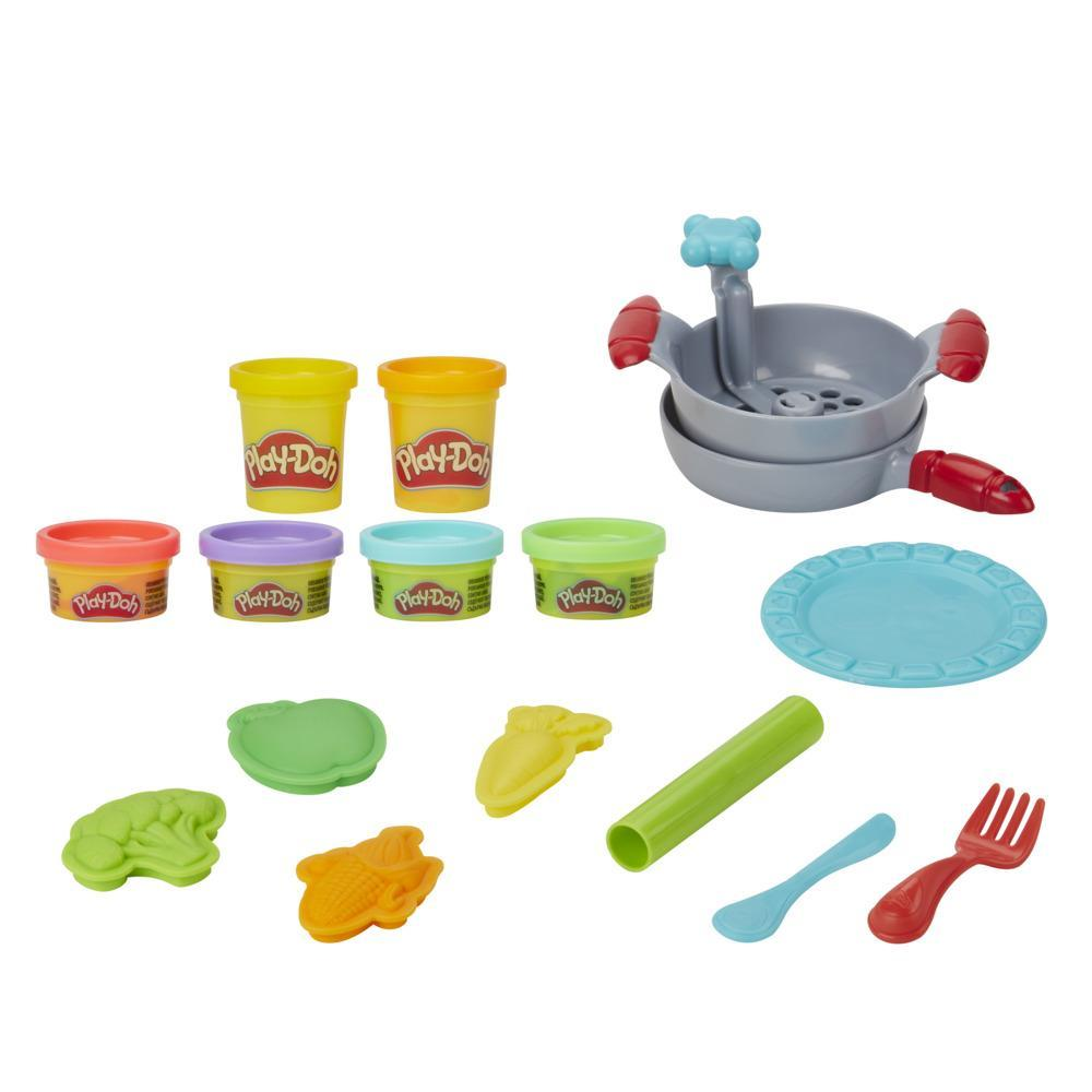 Play-Doh Kitchen Creations Silly Noodles Playset with 6 Non-Toxic Play-Doh Colors