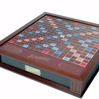 SCRABBLE Brand Crossword Game PREMIER WOOD Edition