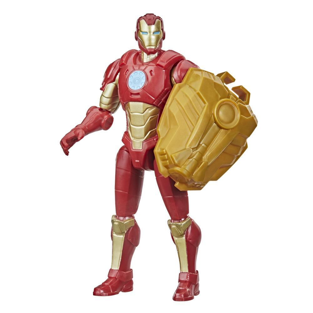 Marvel Avengers Mech Strike 6-inch Scale Action Figure Toy Iron Man And Battle Accessory, For Kids Ages 4 And Up