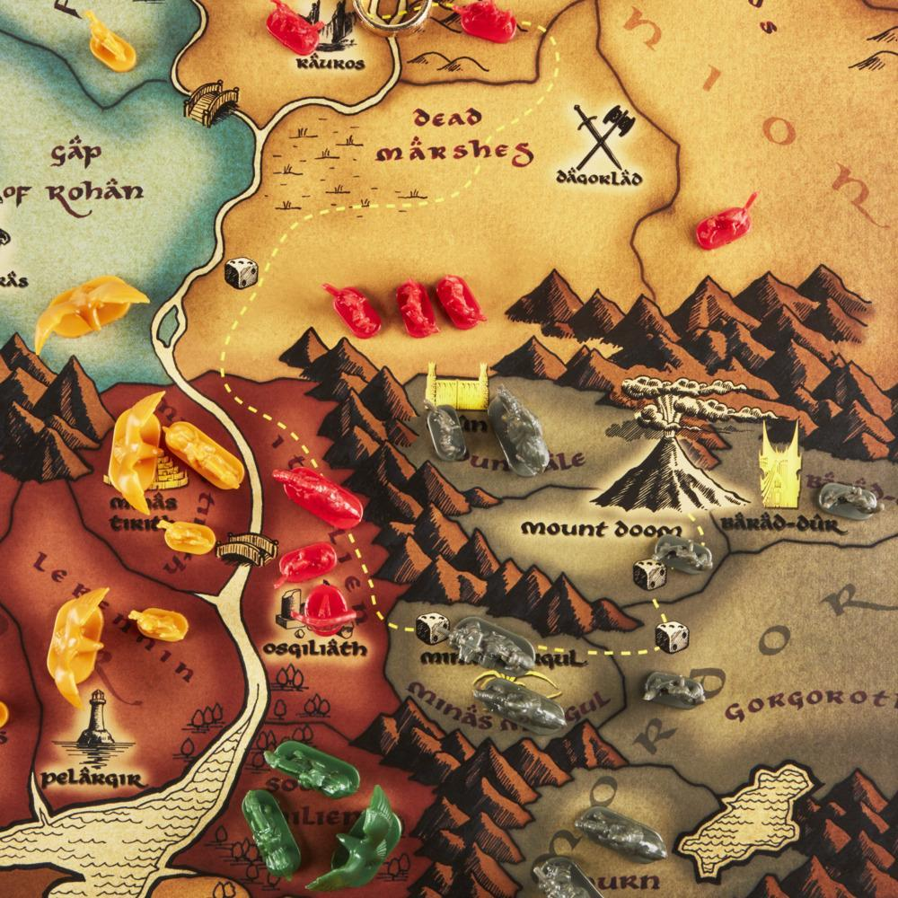 Risk: The Lord of the Rings Trilogy Edition, Strategy Board Game for Ages 10 and Up, for 2-4 Players