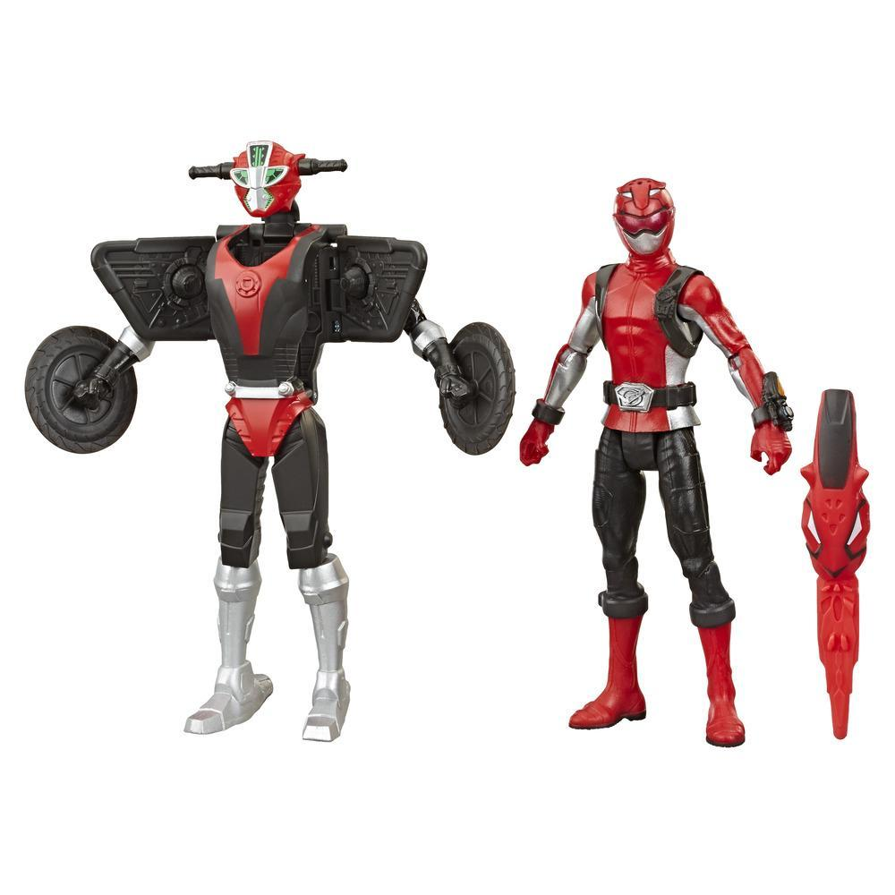 Power Rangers Beast Morphers Red Ranger and Morphin Cruise Beast Bot 6-Inch Action Figure 2-Pack