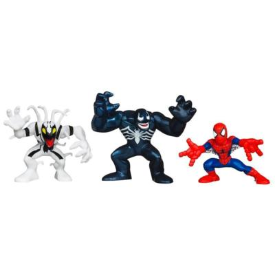 MARVEL SUPER HERO SQUAD THE AMAZING SPIDER-MAN Battle Against VENOM 3-Pack