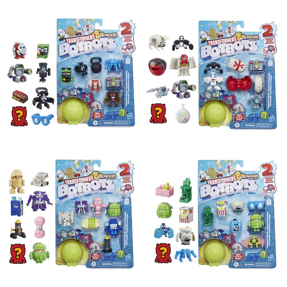 Transformers Toys BotBots Series 5 Frequent Flyers 8-Pack – Mystery 2-In-1 Collectible Figures - Kids Ages 5 and Up
