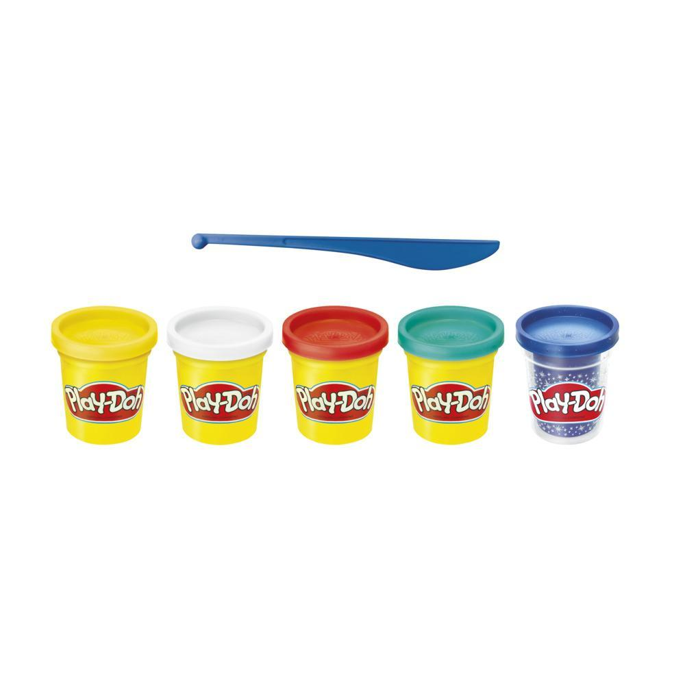 Play-Doh Sapphire Celebration 5-Pack of Colors for Kids 3 Years and Up, Non-Toxic