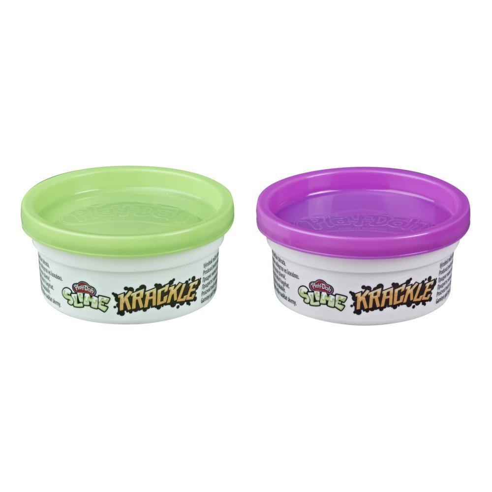 Play-Doh Krackle Slime Purple and Green 2-Pack of Slime Compound with Beads for Kids 3 Years and Up