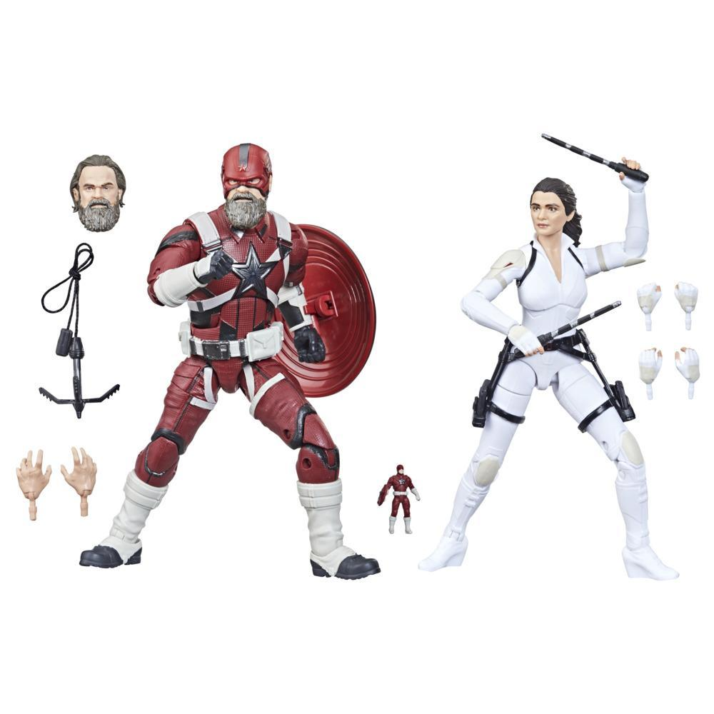 Hasbro Marvel Legends Series Avengers 6-inch Scale Red Guardian & Melina Vostkoff Figure 2-Pack, For Kids Age 4 And Up
