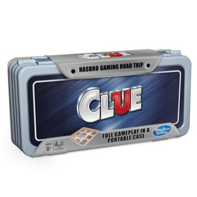 Hasbro Gaming Road Trip Series Clue Game Portable Board Game