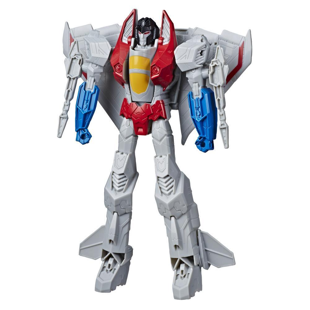 Transformers Toys Titan Changers Starscream Action Figure - For Kids Ages 6 and Up, 11-inch