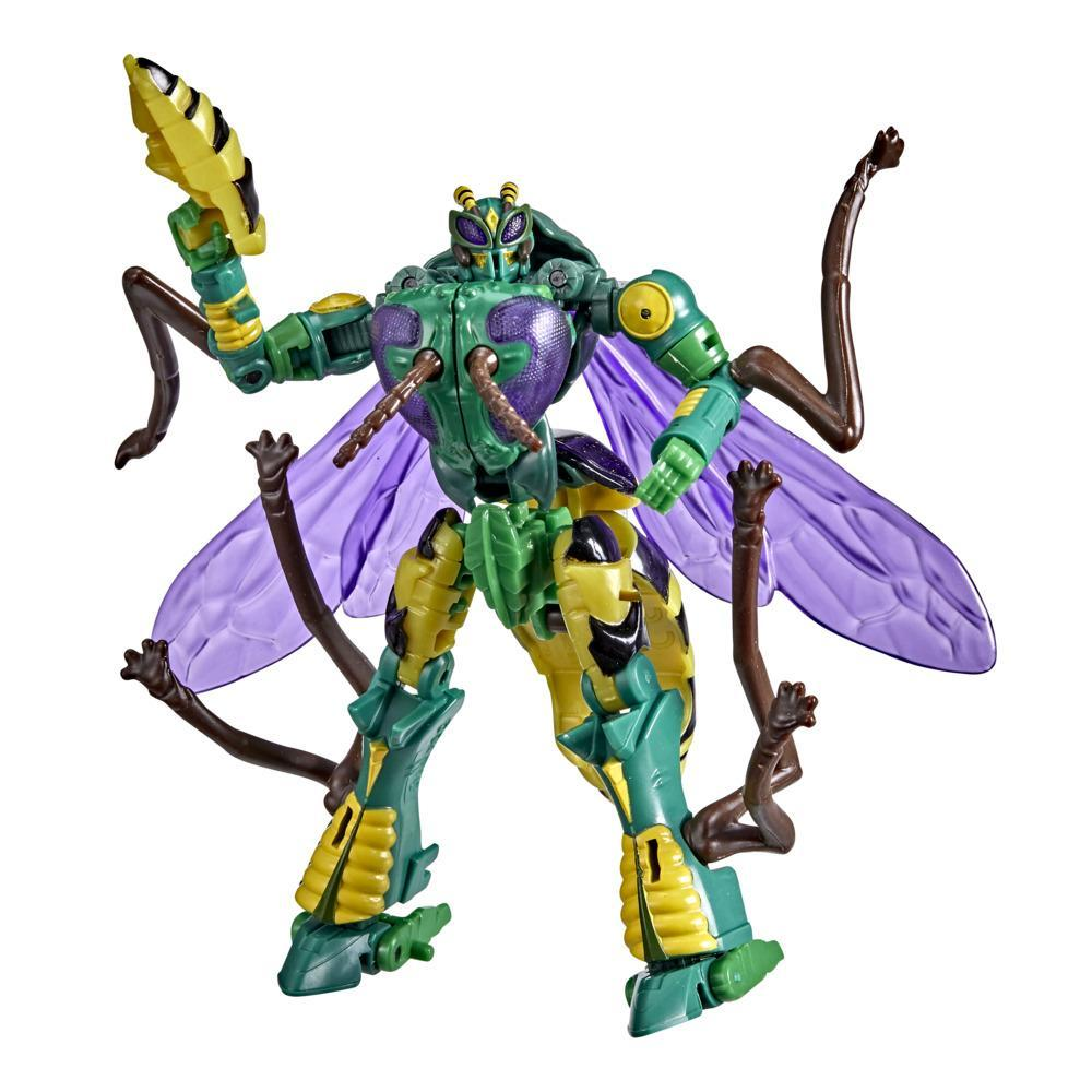 Transformers Toys Generations War for Cybertron: Kingdom Deluxe WFC-K34 Waspinator Action Figure - 8 and Up, 5.5-inch