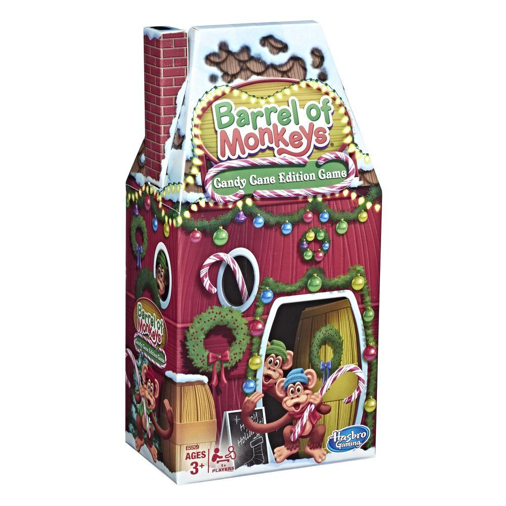 Barrel of Monkeys: Candy Cane Holiday Edition Game for Kids Ages 3+