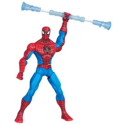 THE AMAZING SPIDER-MAN WEB BATTLERS Comic Series Spinnin' Staff SPIDER-MAN Figure