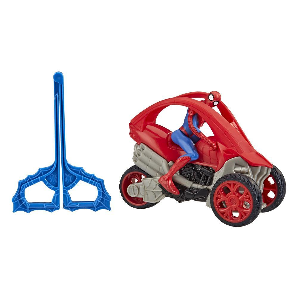 Marvel Spider-Man: Spider-Man Stunt Vehicle 6-Inch-Scale Super Hero Action Figure And Vehicle Toy Great Kids For Ages 4 And Up