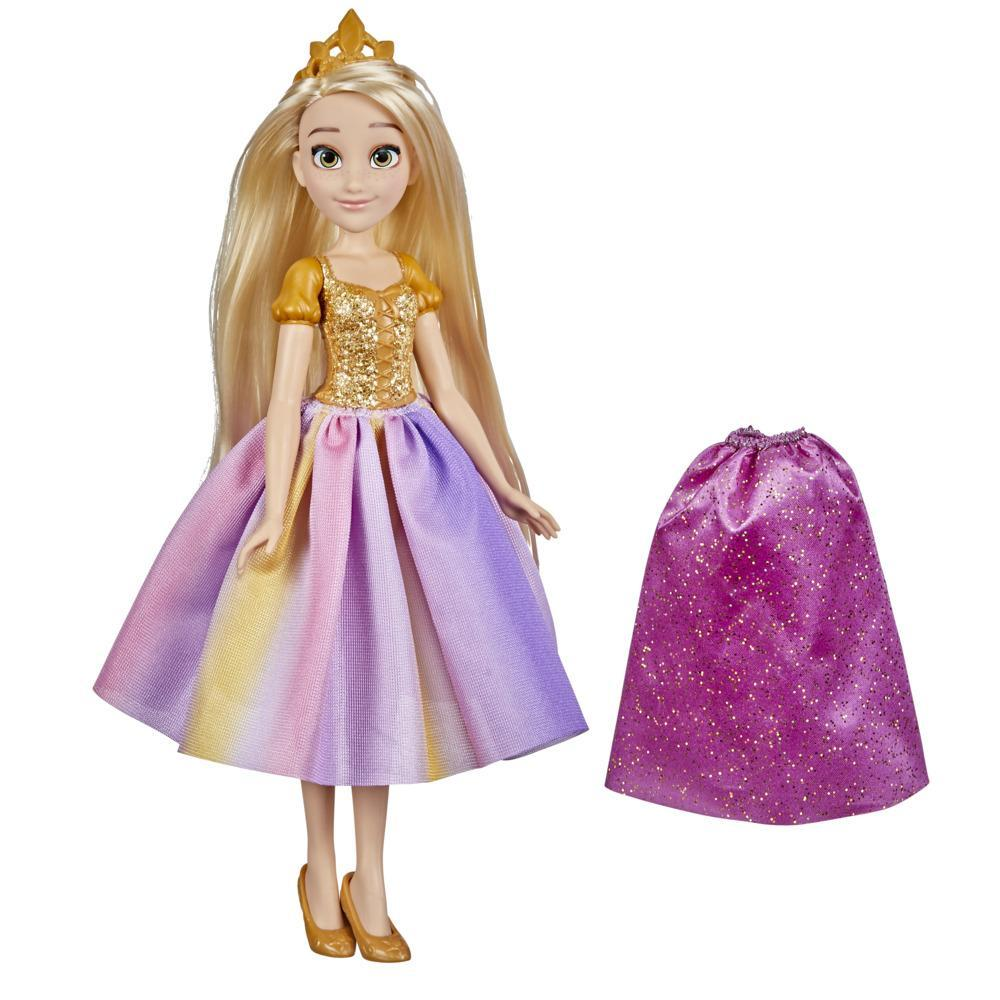 Disney Princess Party Fashion Rapunzel, Fashion Doll with Extra Skirt and Accessories, Disney Toy for Girls 3 Years and Up