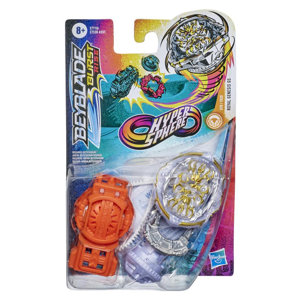 Beyblade Burst Rise Hypersphere Royal Genesis G5 Starter Pack -- Battling Top Toy and Right/Left-Spin Launcher