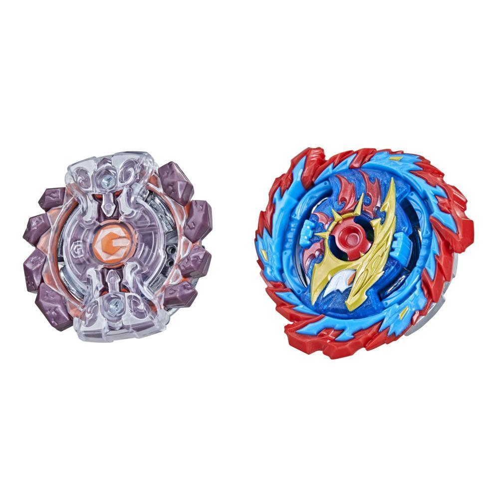 Beyblade Burst Surge Speedstorm Mirage Helios H6 and Gaianon G6 Spinning Top Dual Pack -- Battling Game Top Toy