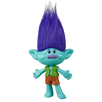 DreamWorks Trolls Branch Doll with Removable Vest and  Shorts, Inspired by Trolls World Tour, Toy for Girls 4 and Up